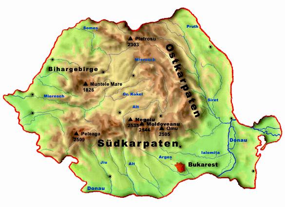 Siebenburgen Geographie Homepage Von Christian Agnethler